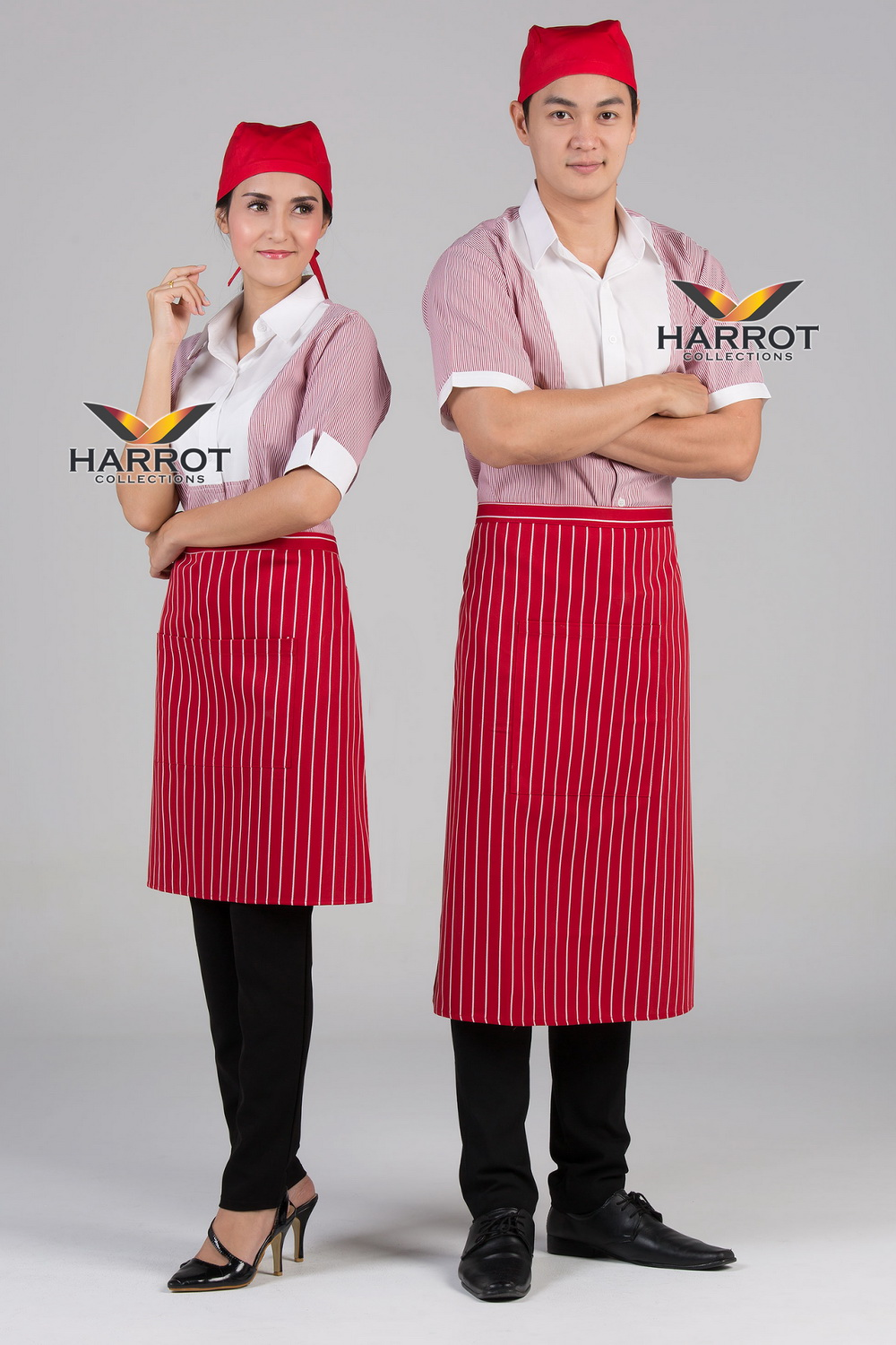 Red Stripe Euro Waiter & Waitress shirt