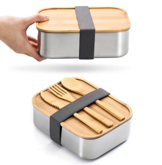 กล่องข้าวสแตนเลสฝาไม้,กล่องอาหารฝาไม้,กล่องข้าวฝาไม้