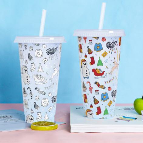 สั่งทำ,แก้วเปลี่ยนสี,แก้วพลาสติก,แก้วพร้อมหลอด,ขั้นต่ำ1,000ชิ้น