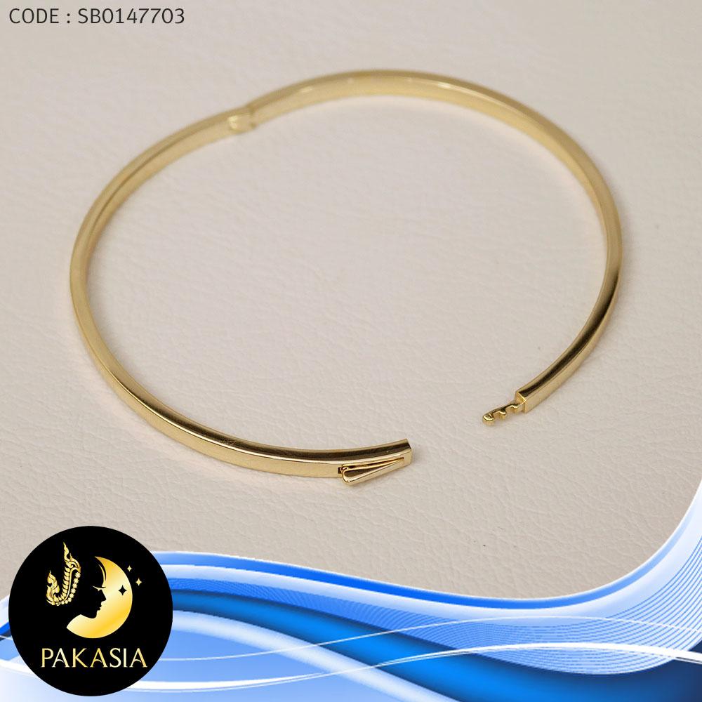กำไล PAKASIA (เส้นผ่านศูนย์กลาง 6.3 cm.)[เงินชุบทอง] / ข389