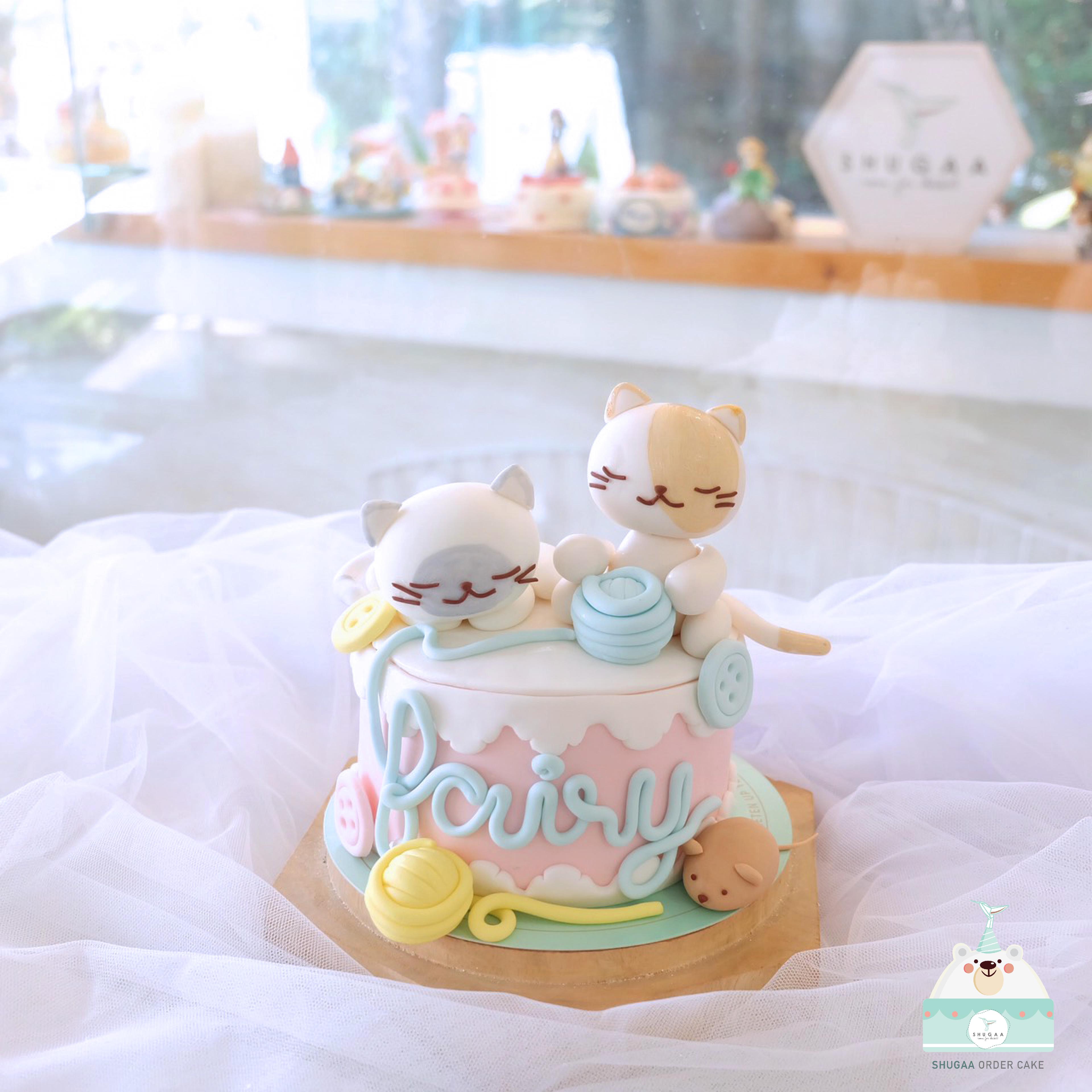 เค้กวันเกิด เค้กแมว 3มิติ Cat 3d Cake