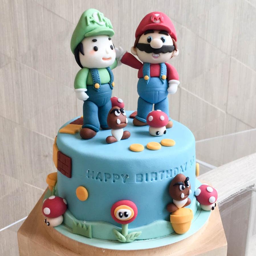 เค้กมาริโอ้ - Super Mario Cake เค้กการ์ตูน