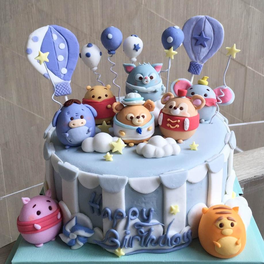 เค้กตุ๊กตาซูมซูม - tsum tsum cake