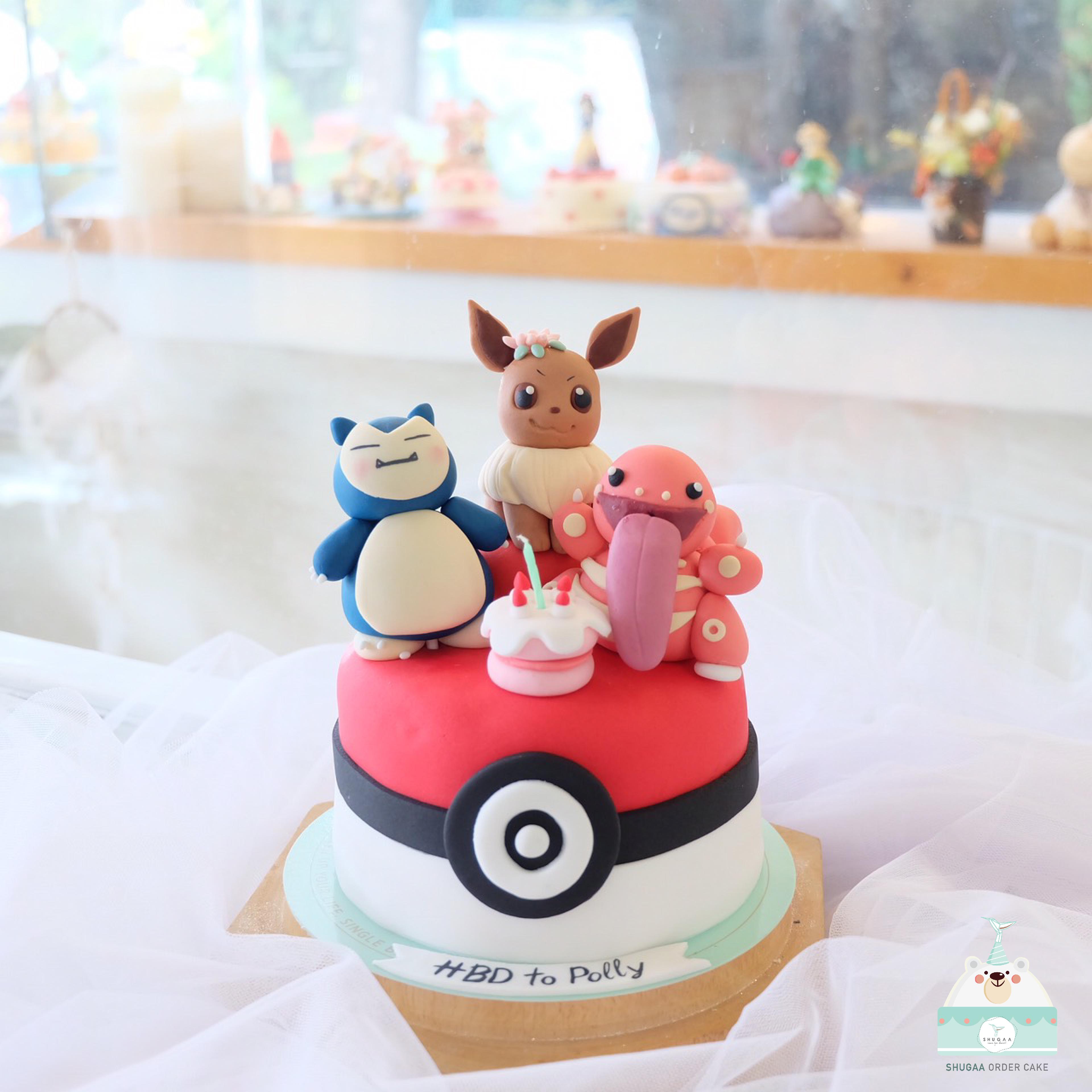 เค้กโปเกมอน เค้กการ์ตูน - Pokemon Cake