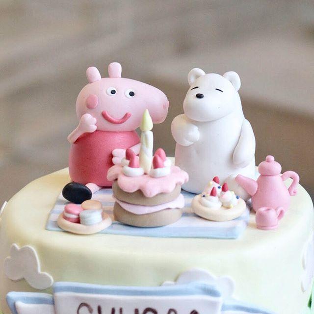 เค้กเป๊ปป้าพิก เค้กการ์ตูน - Peppa Pig Cake