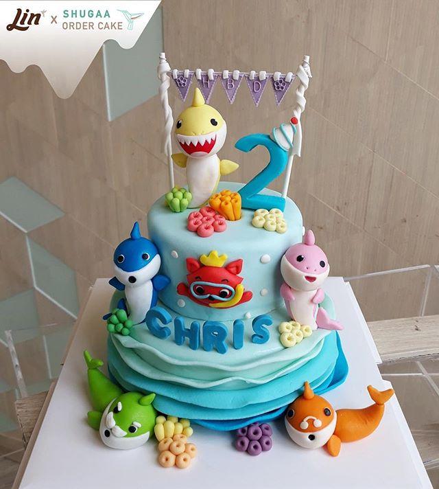 เค้กเบบี้ชาร์ค - Baby Shark Cake