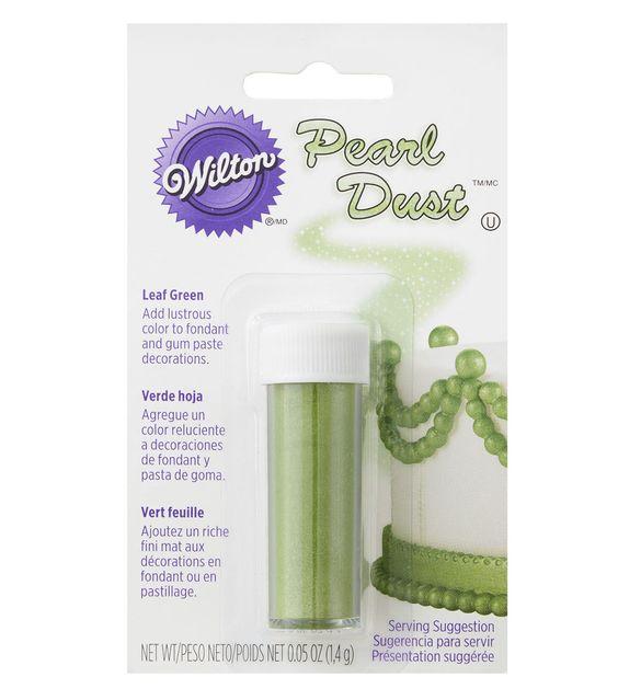 Wilton Leaf Green Pearl Dust