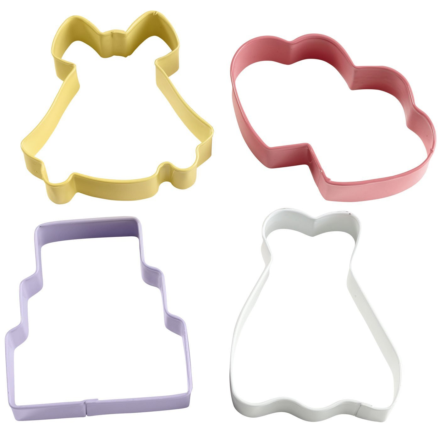 Wilton Wedding Theme Cookie Cutter 4 Piece Set