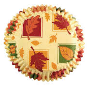 Wilton Autumn Leaves Baking Cups, 75 count