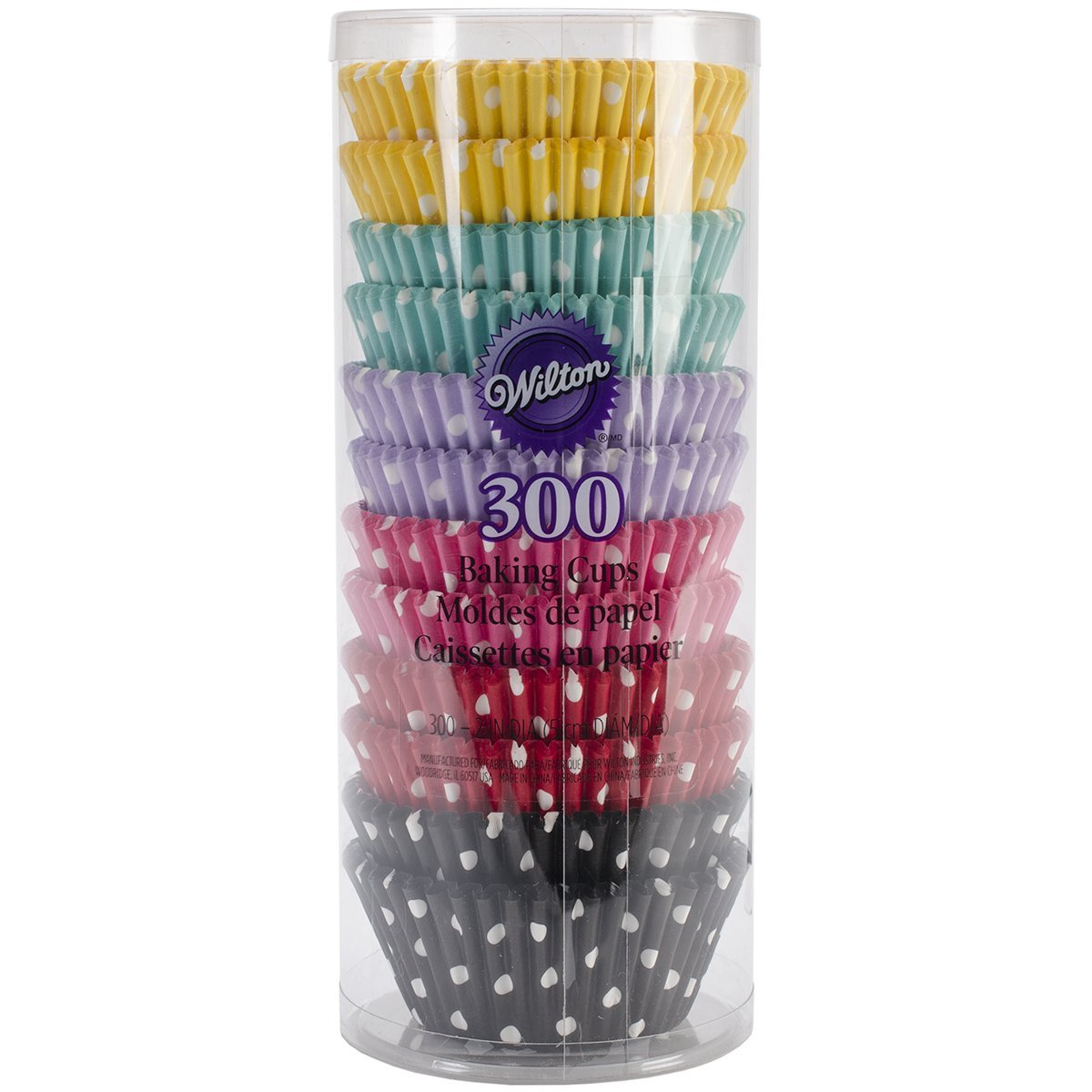 Wilton Polka Dots Collection of Baking Cups, 300 Ct.