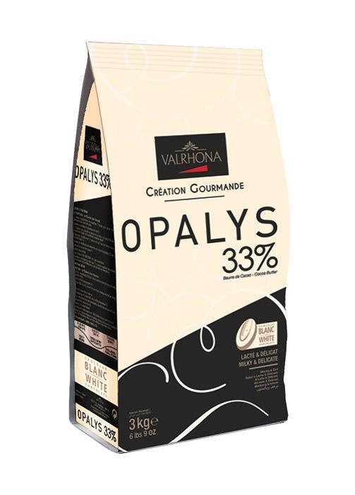 VALRHONA OPALYS 33% - White Chocolate