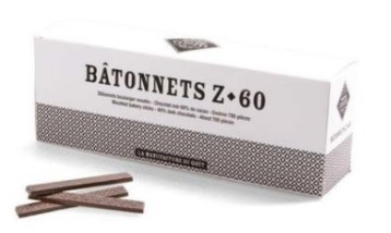Michel Cluizel Batonnets Z-60 - Chocolate Sticks 60%