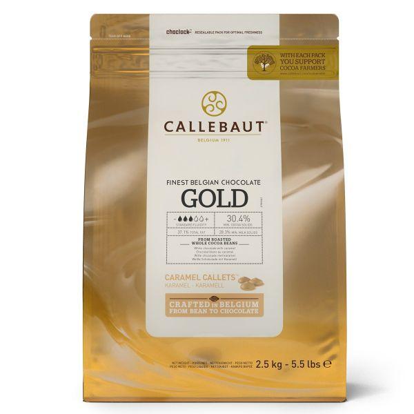 CALLEBAUT CARAMEL CALLET 30.4% : GOLD