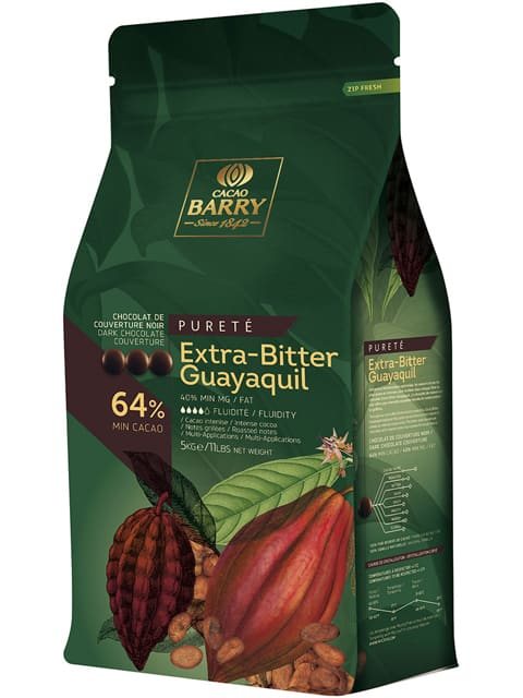 CACAO BARRY EXTRA-BITTER GUAYAQUIL 64% - Dark Chocolate