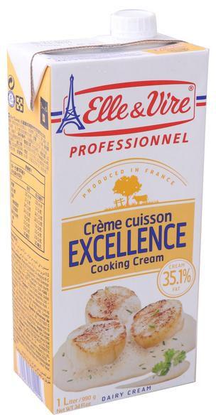 Elle&Vire Cooking Cream 35% FAT 1 Liter - คุ้กกิ้งครีม
