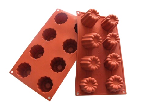 SILICONE MOLD : CANNELES 8 cavity