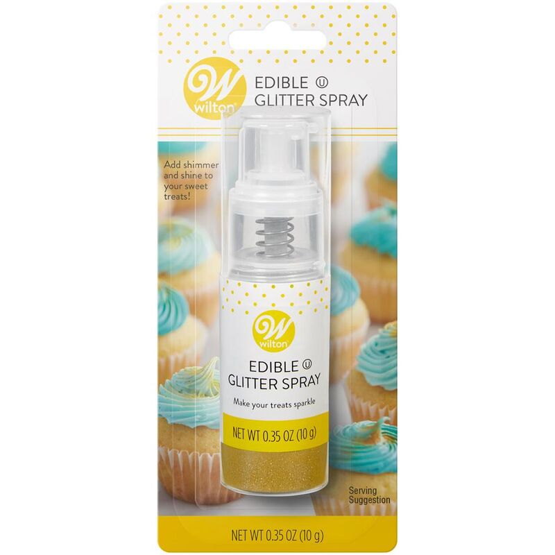 Wilton Edible Glitter Dust (Push Pump) :  GOLD