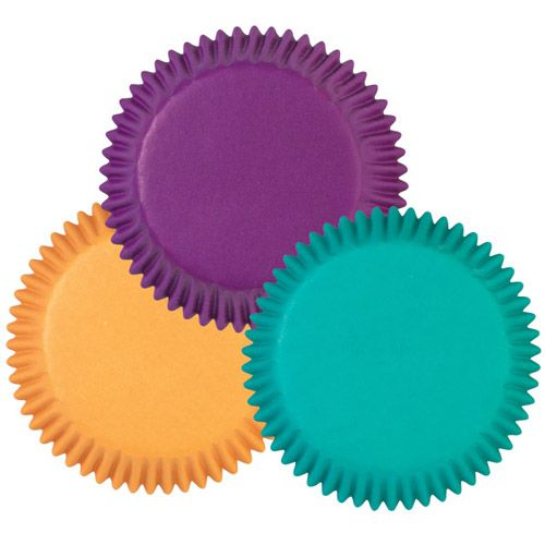 WILTON MINI BAKING CUPS ASSORTED JEWEL COLORS  100 ใบ