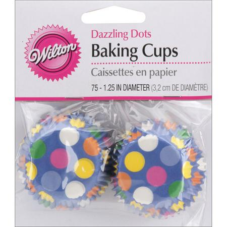Wilton Mini Dazzling Dots Baking Cups, 75 ct