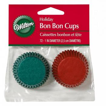WILTON HOLIDAY CANDY CUPS RED / GREEN MINI  - 72 ใบ