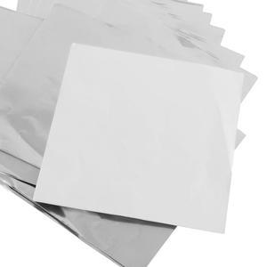 แผ่นฟอยล์สีเงินขนาด 9.5*9 cm 100 แผ่น - Silver Foil Paper For Chocolate