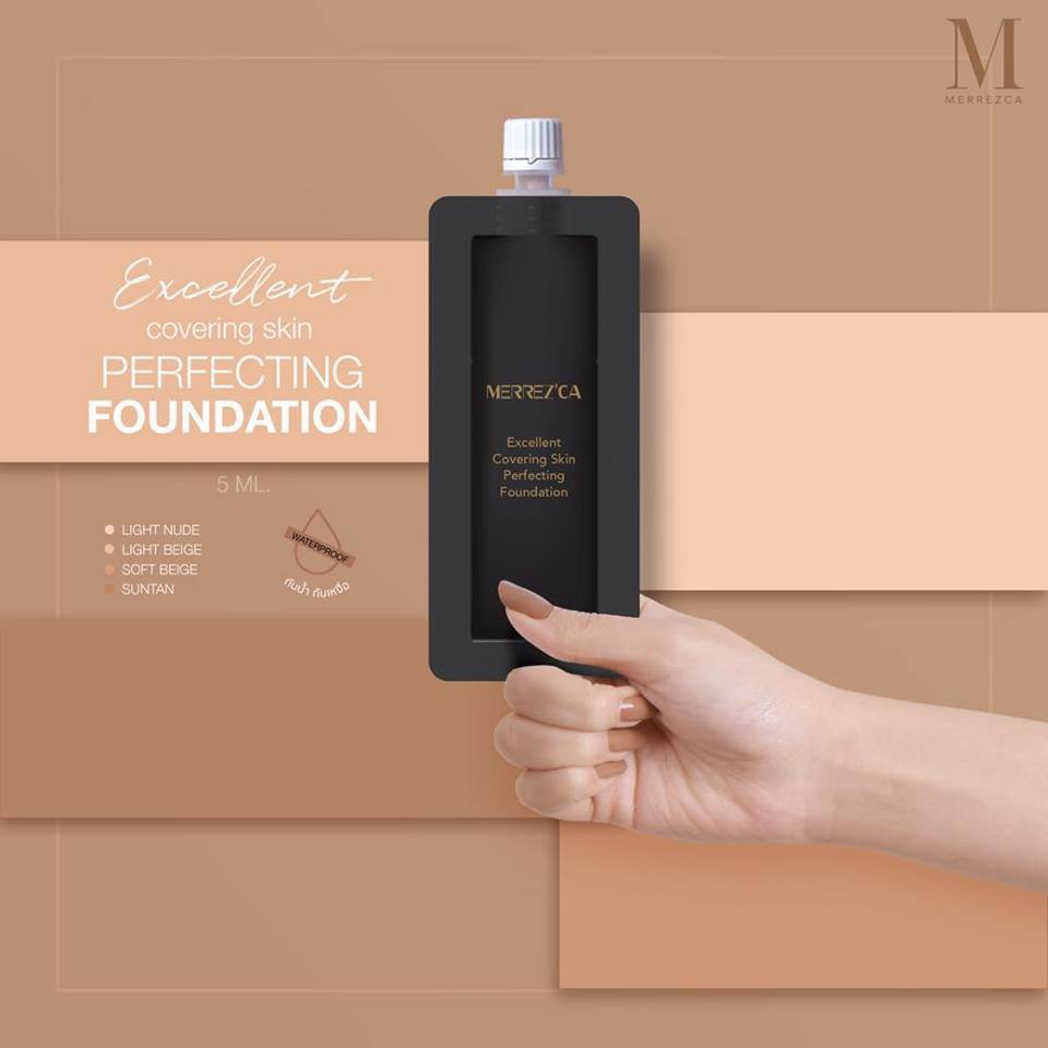 Merrez'ca Excellent Covering Skin Perfecting Foundation SPF50/PA+++ 5ml (ซอง)