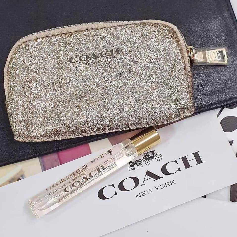 Coach Eau De Parfum 7.5ml Travel Set พร้อมกระเป๋า