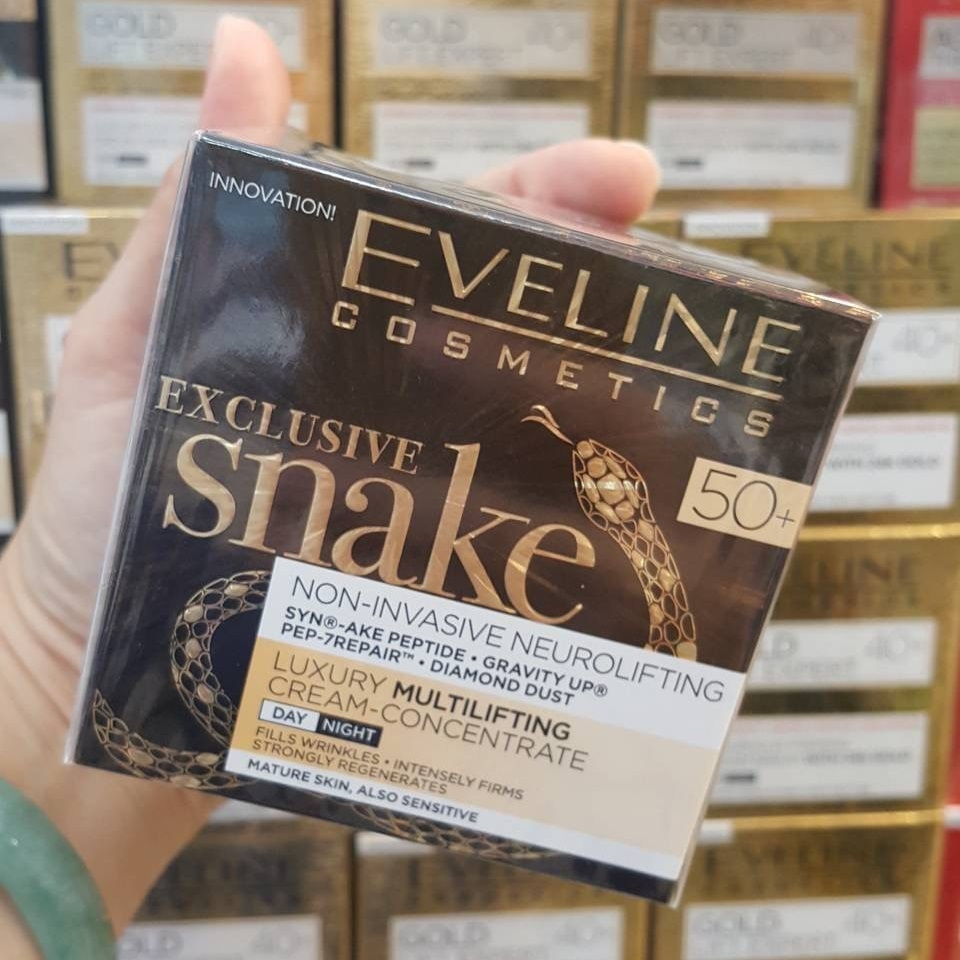Eveline Exclusive Snake Cream-Concentrate 50+ for Face Day and Night 50ml.