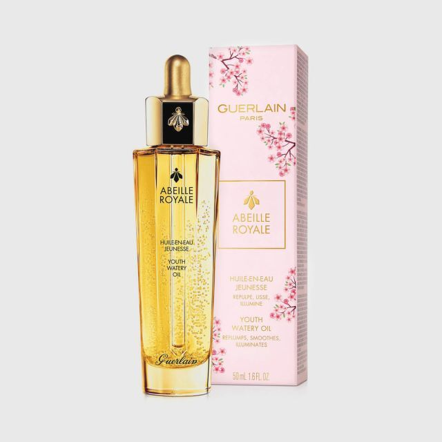 GUERLAIN Abeille Royale Youth Watery Oil 50ml.(Cherry Blossom กล่องสีชมพู)