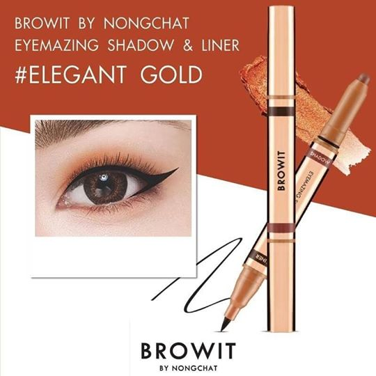 BROWIT By Nongchat Eyemazing Shadow And Liner 2in1 #Elegant Gold