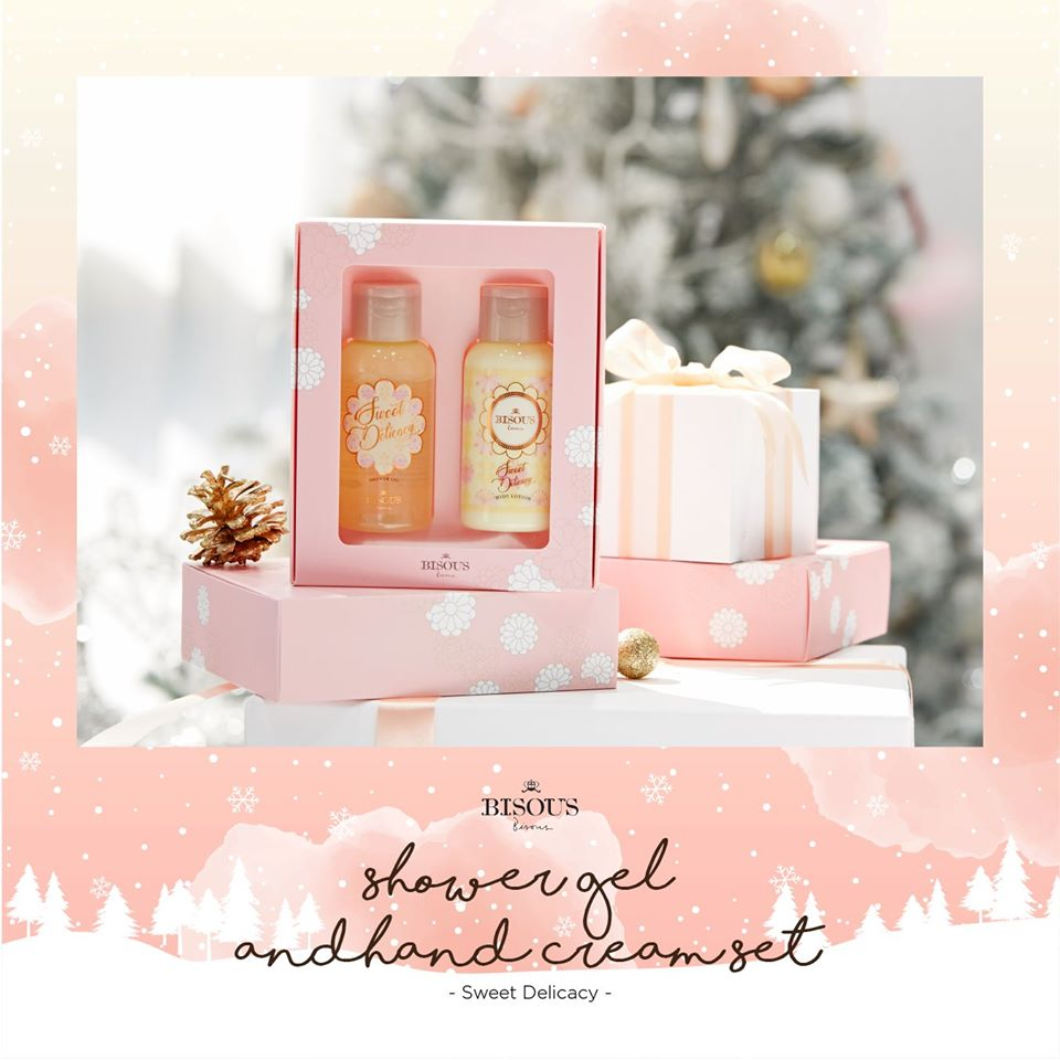 Bisous Bisous Body Lotion & Shower Gel Travel Size Set #Sweet Delicacy