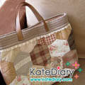 - Quilt - กระเป๋าเฮกซากอนสีหวานแต่งลูกไม้
