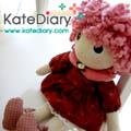 ตุ๊กตาผ้า - ตุ๊กตาคันทรี น้องผมฟูสีจมปู
