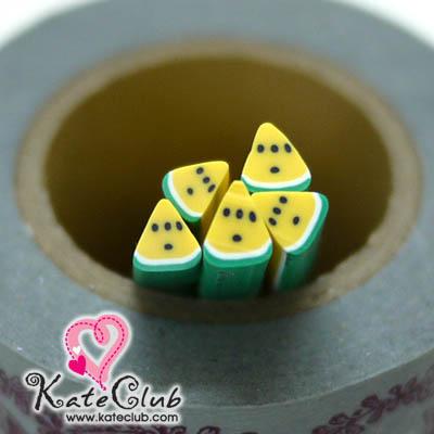 แตงโมสามเหลี่ยมเหลือง - Polymer Clay Cane - 5mm (1 แท่ง)