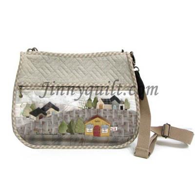 SALE - ชุดอุปกรณ์เย็บกระเป๋า Home Sweet Home - Shoulder Bag By JinnyQuilt