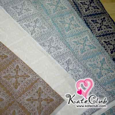 ผ้า Cotton คุณมาซาโกะ No.63 ลายโครเชต์ (1 บล็อค= 50.5x110cm) **คลิกเลือกสีด้านใน