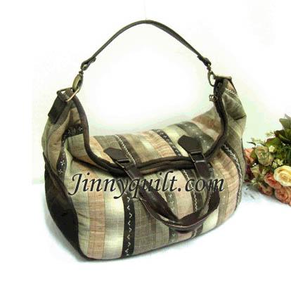 SALE - ชุดอุปกรณ์เย็บกระเป๋า Striped Pressquilt Bag By JinnyQuilt