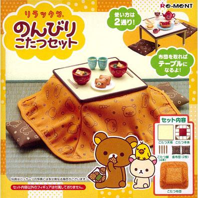 (พร้อมส่ง 1 กล่องค่ะ) Re-Ment Rilakkuma - Nonbiri Kotatsu Set (ไม่รวมอุปกรณ์ต่างๆ บนโต๊ะ)