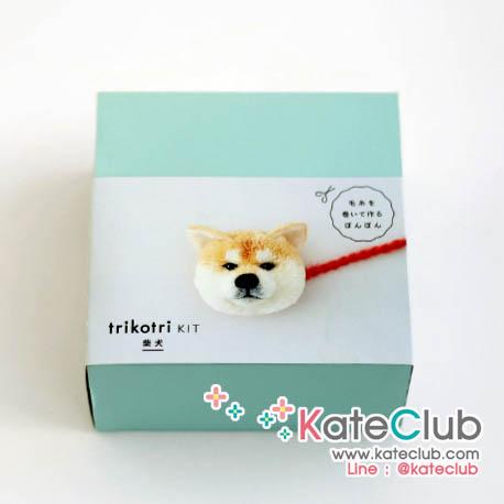 (กล่องกระดาษบุบค่ะ) trikotri KIT - PomPom Shiba  (1 ชุด ทำปอมปอมได้ 2 ตัว)