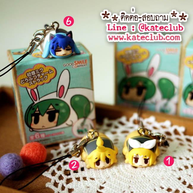 (พร้อมส่งเบอร์ 1,2,6) Miku Hatsune Animal Charm Strap
