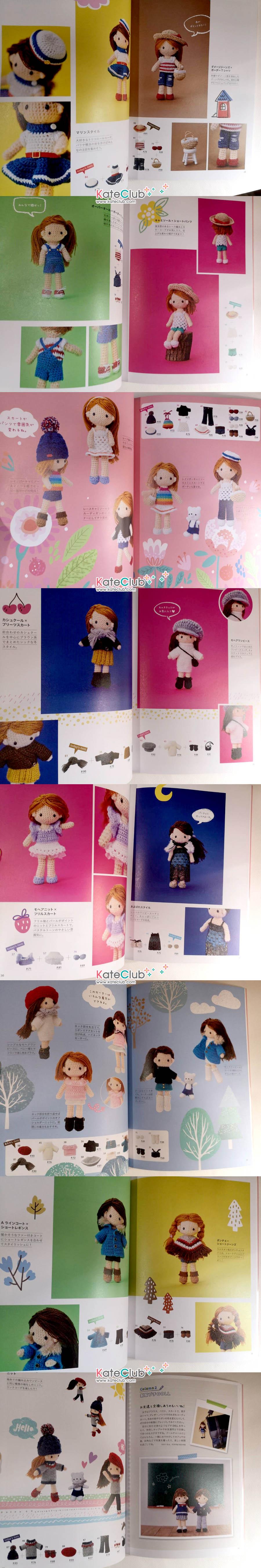 หนังสือสอนถักโครเชต์ตุ๊กตาเด็กผู้หญิง และเสื้อผ้า Miya