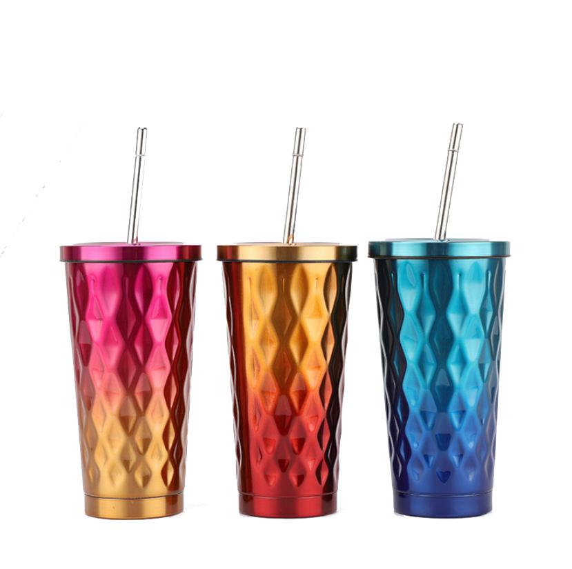 แก้วสแตนเลสเก็บความเย็นไล่โทนสี ขนาด 500 ml