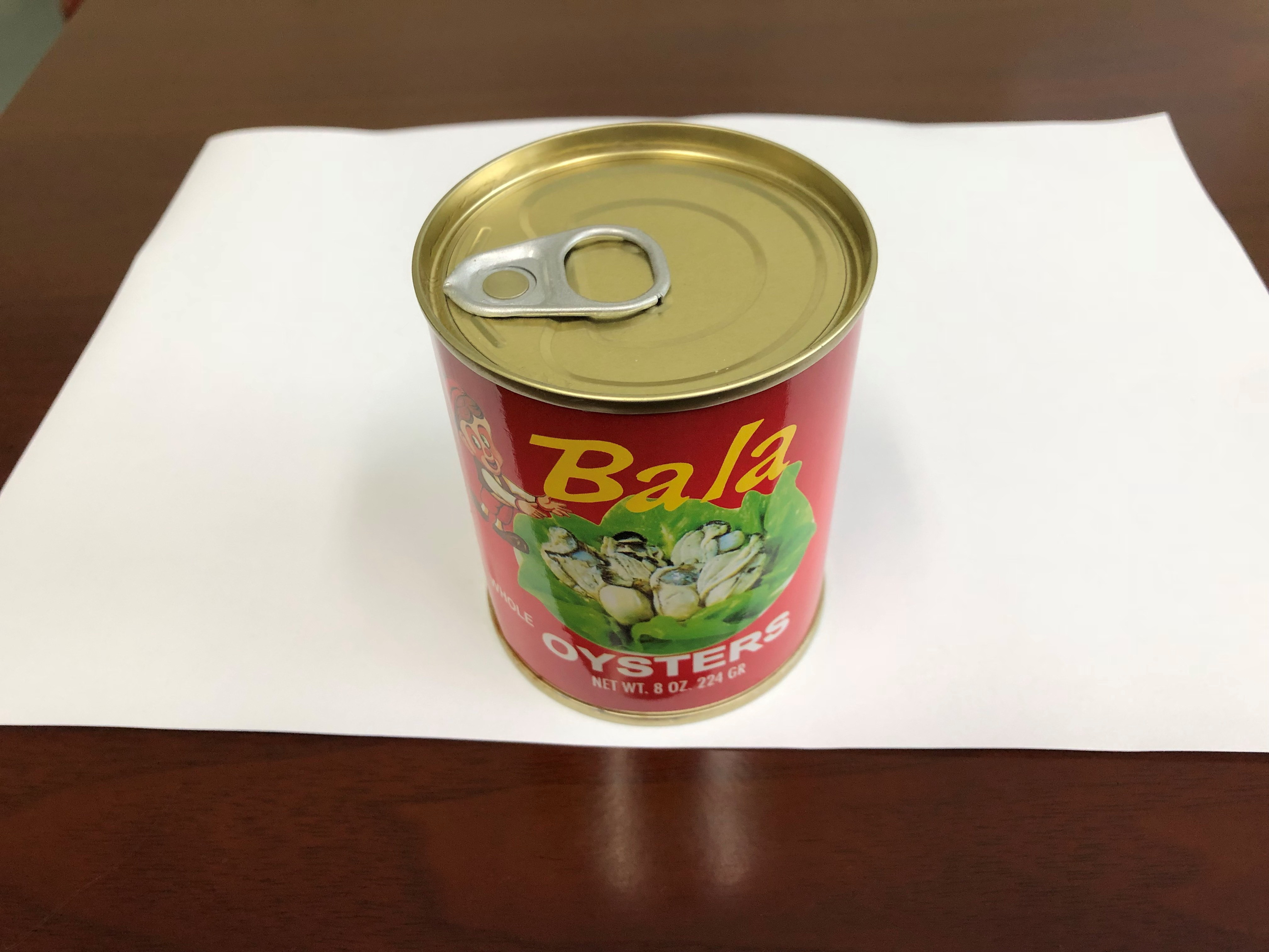canned boiled oyster