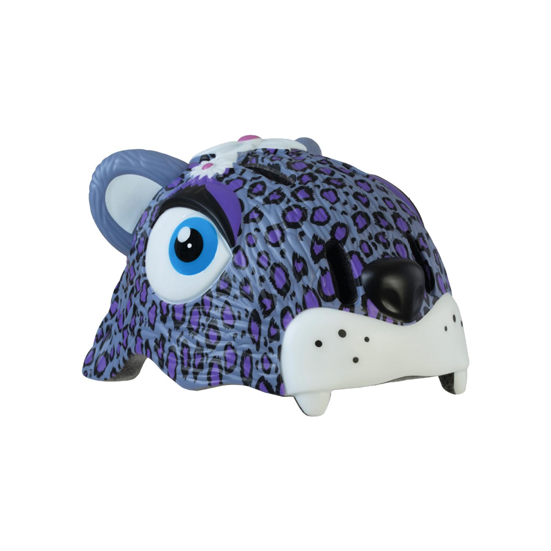 หมวกกันน็อคเด็ก ลายเสือดาวม่วง Crazy Safety Purple Leopard 49-55 cm size S