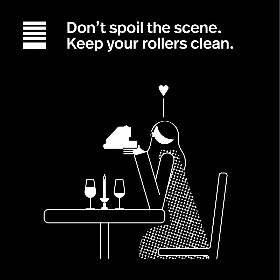 Keep rollors clean.