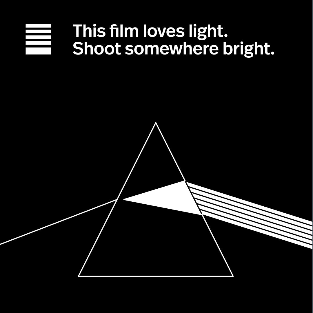 Polaroid loves light.