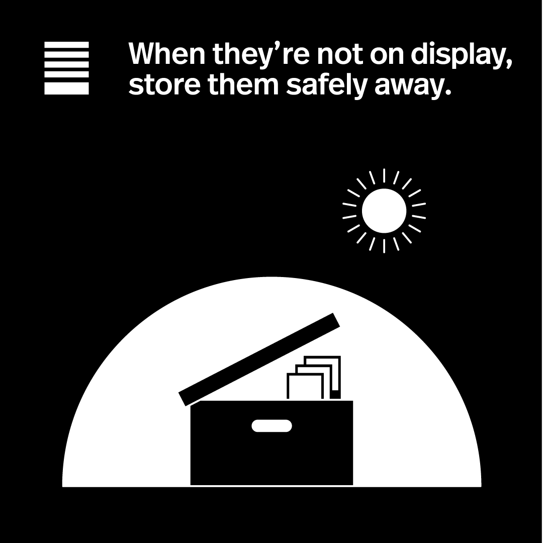 Store them safely away.