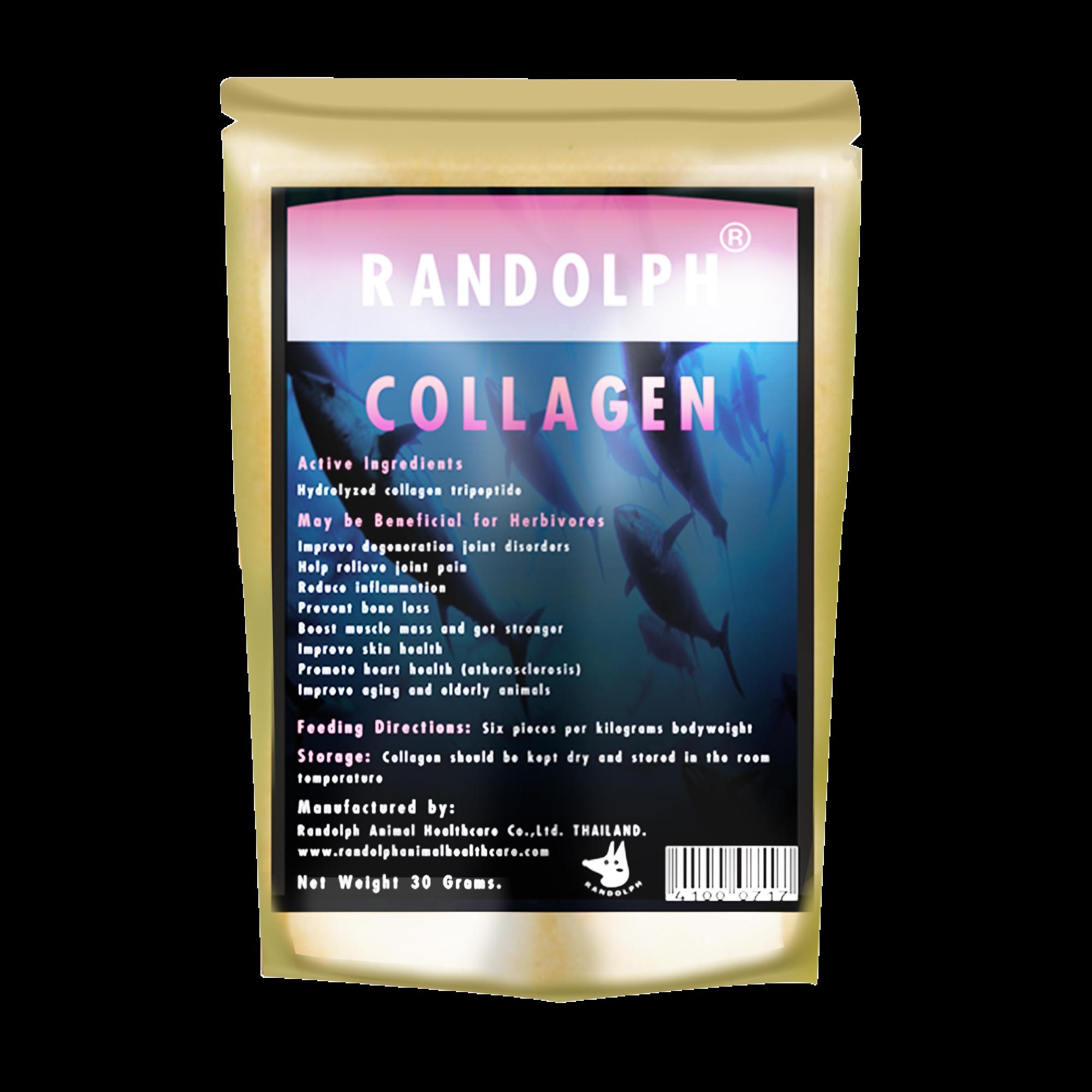 Treats for herbivores collagen