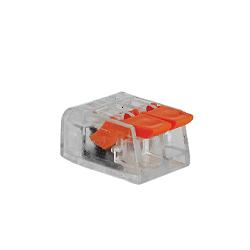 Push wire อุปกรณ์เชื่อมต่อสายไฟ 2 ช่อง (แบบใส)