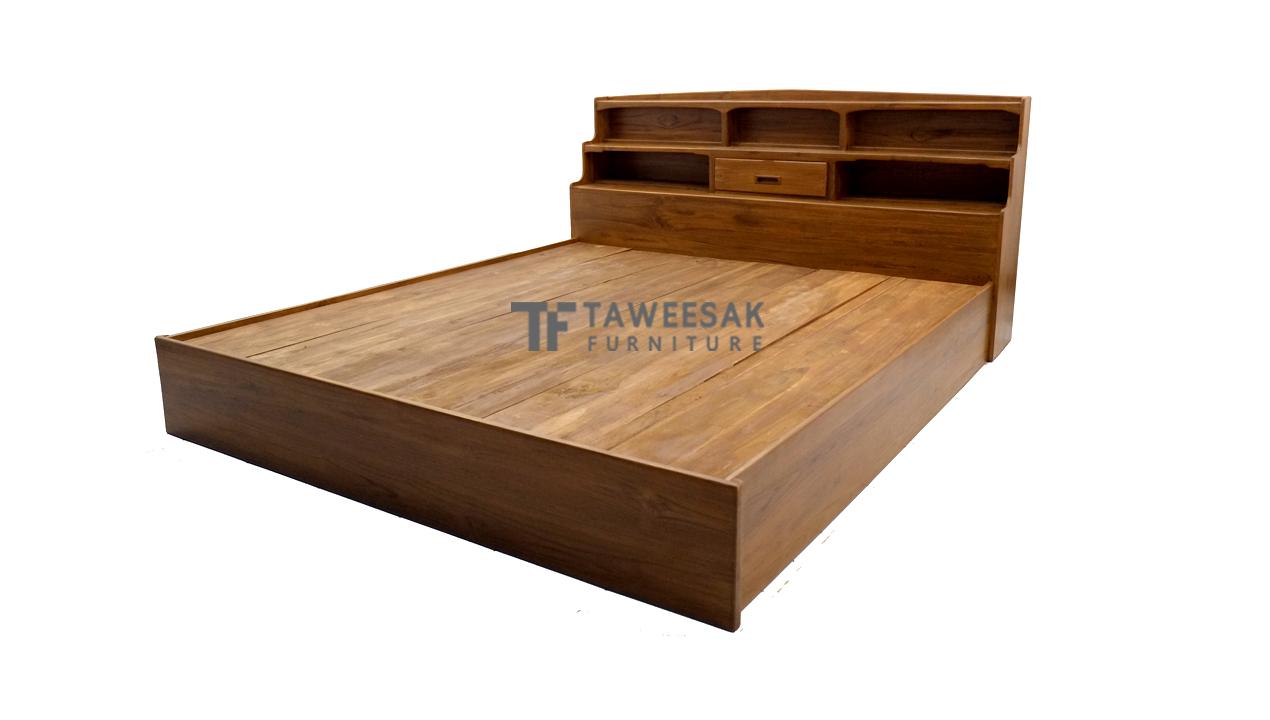 เตียงไม้สัก BE030